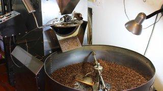 Torréfaction du café en Colombie