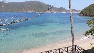 La plage de bahia Cinto dans le Parc Tayrona en Colombie
