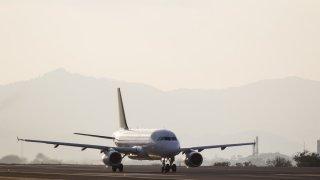Avion au retour d'Amérique du Sud