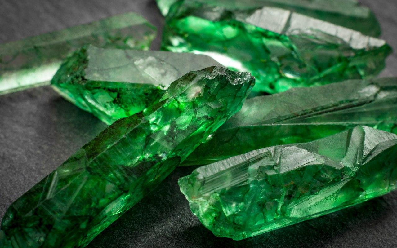 Des cristaux d'émeraudes
