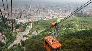 Monserrate à Bogota en Colombie
