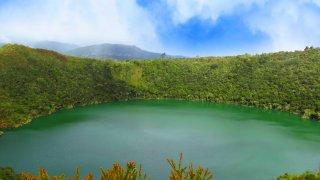 Lagune de GUatavita près de Bogota en Colombie