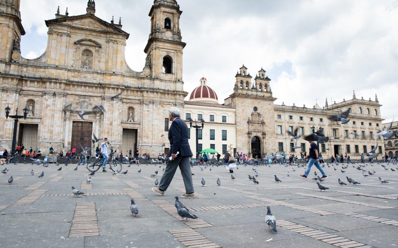 Plaza Bolivar à Bogota en Colombie