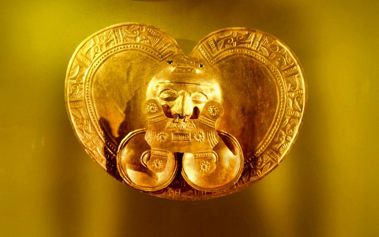 Un pièce du Musée de l'or à Bogota