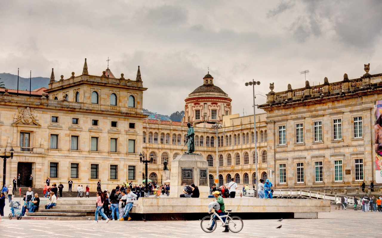 Place Bolívar à Bogota en Colombie