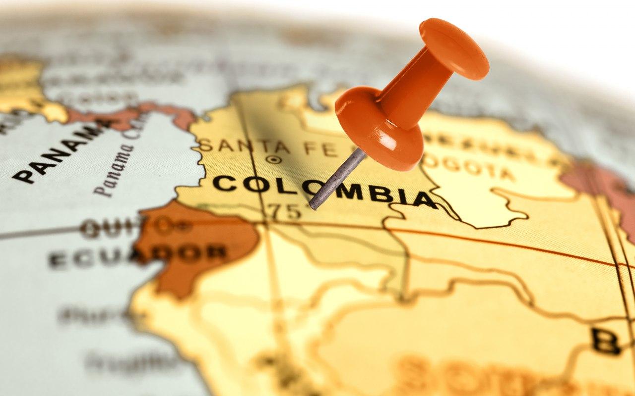 Localisation de la Colombie