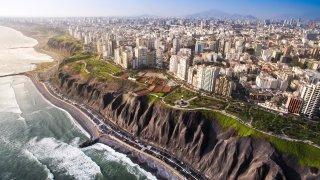 Vue aérienne de Lima au Pérou