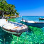 Les eaux claires des îles du Rosaire