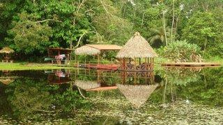un ecolodge au Costa Rica sur le Rio San Carlos