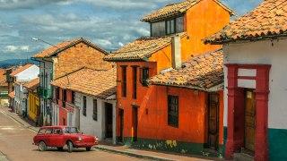 Le quartier de la Candelaria à Bogota en Colombie