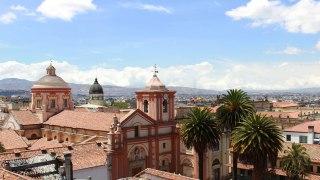 Les toits de Bogota en Colombie