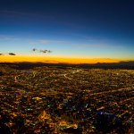 Bogota au coucher du soleil