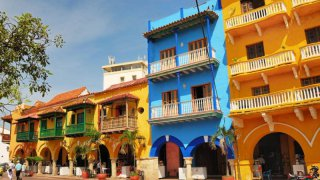 Les rues de Carthagène en Colombie