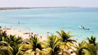 La péninsule de Baru dans les Caraïbes en Colombie