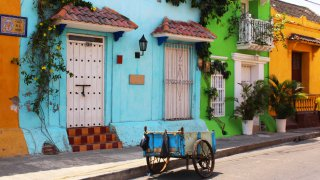 La vieille ville de Carthagène en Colombie