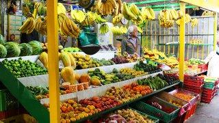 Fruits sur un marché en Amérique Latine