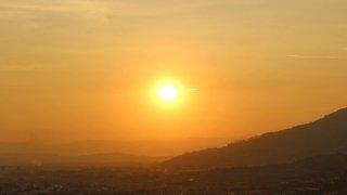 Coucher de soleil près de Pereira