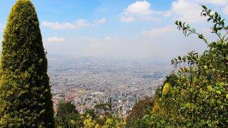 La ville de Bogota en Colombie depuis Monserrate