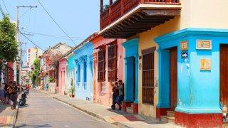 Dans les rues de Carthagène des Indes en Colombie