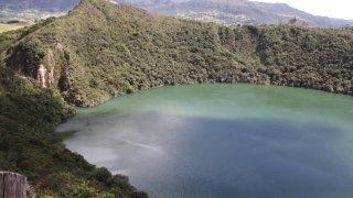 La lagune d'Ubaque près de Bogota en Colombie