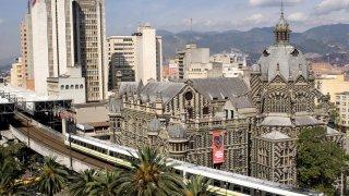 Le centre de la ville de Medellin en Colombie