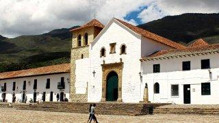 Place centrale de Villa de Leyva en Colombie