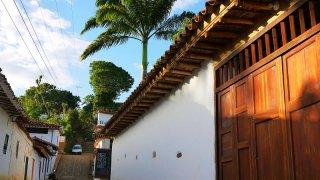 Le village de Barichara dans les Andes en Colombie