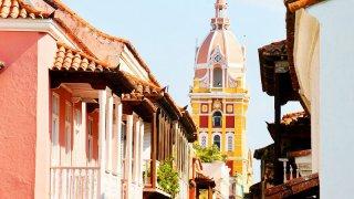 Dans les rues de Carthagène en Colombie