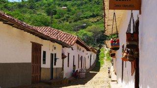 Le village de Guane dans les Andes en Colombie