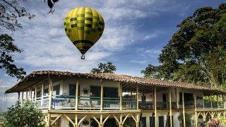 Hacienda dans la région du café en Colombie