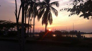 Coucher de soleil sur Santa Marta en Colombie