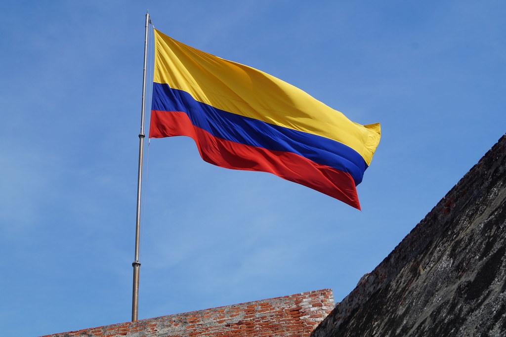 Le drapeau de la Colombie
