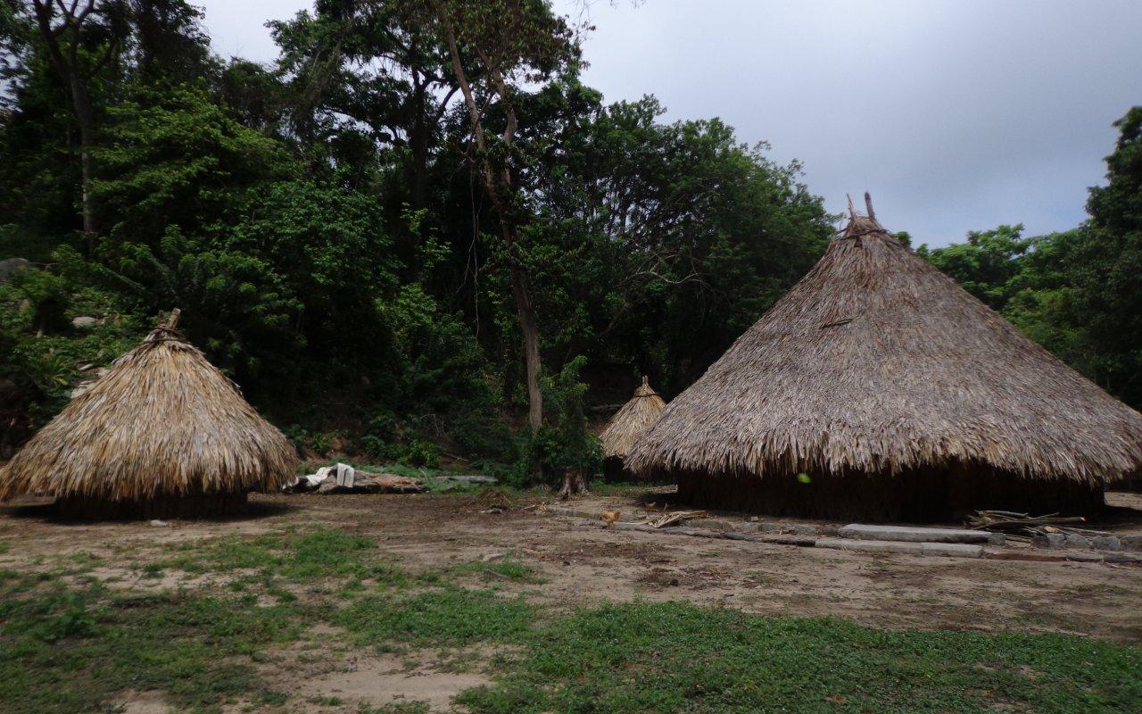 Village dans le Parc Tayrona