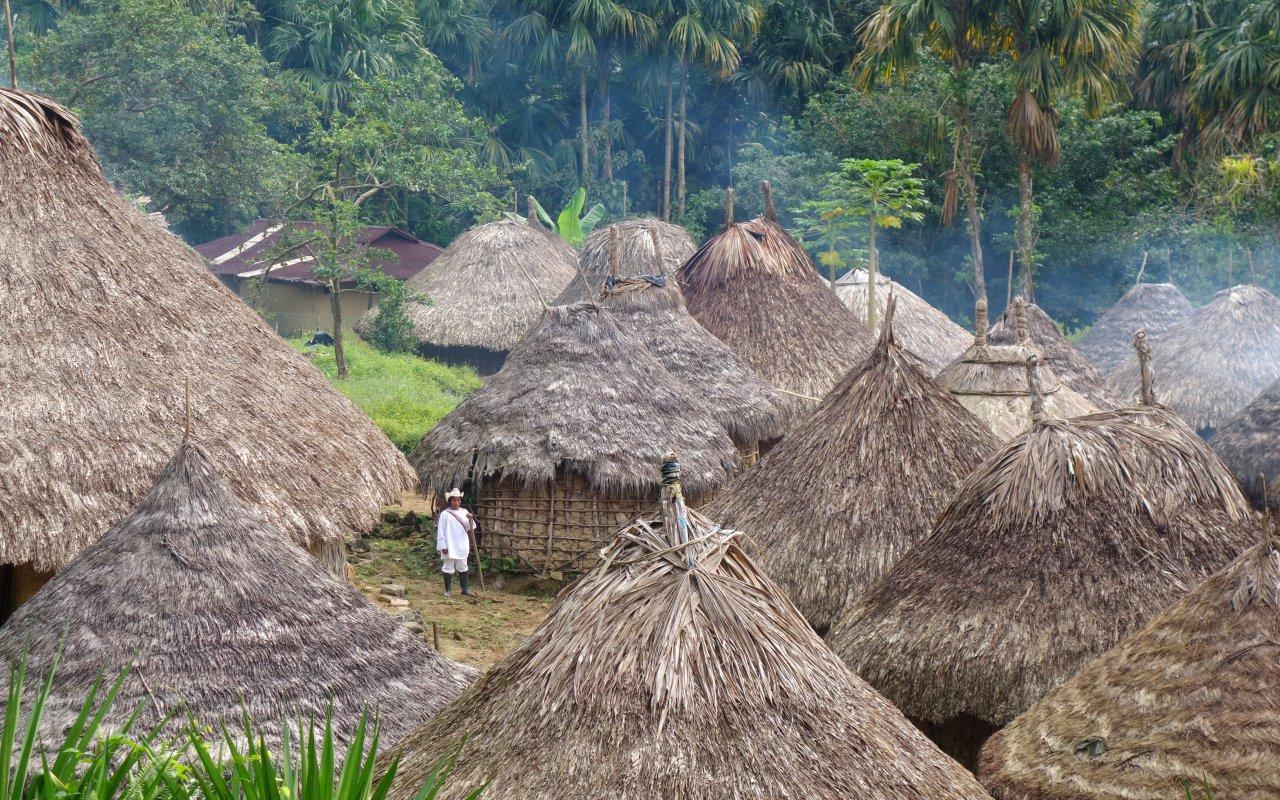 Les villages kogis des montagnes de la Sierra Nevada de Santa Marta