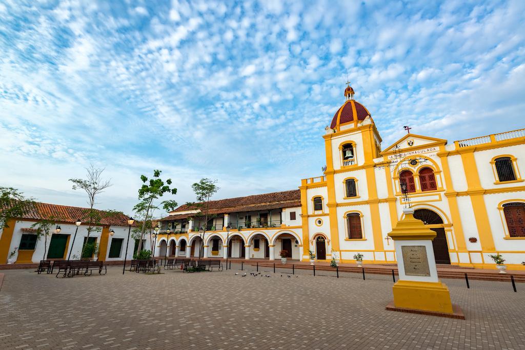 L'église de l'Immaculée Conception à Mompox