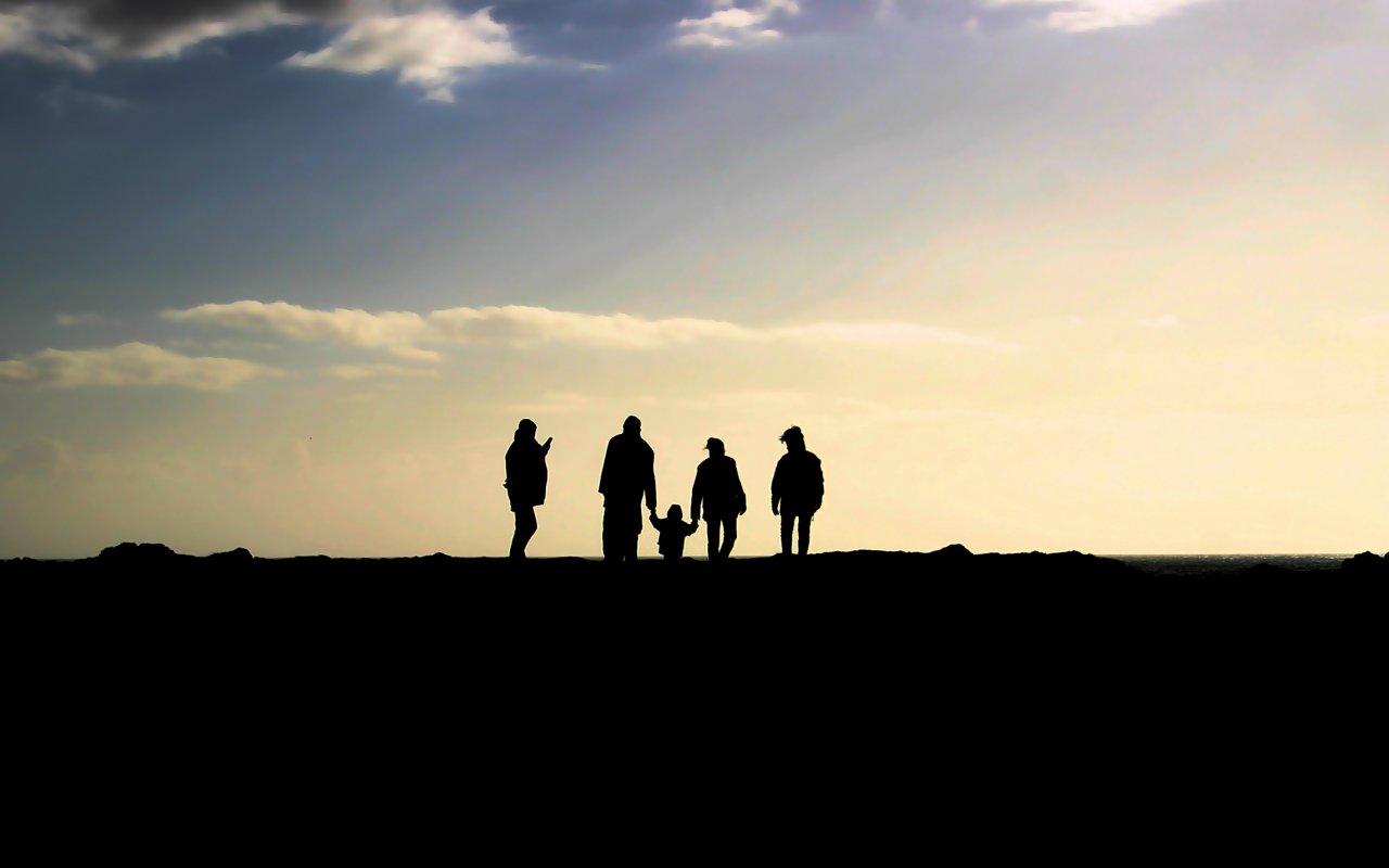 Une famille en voyage en Colombie
