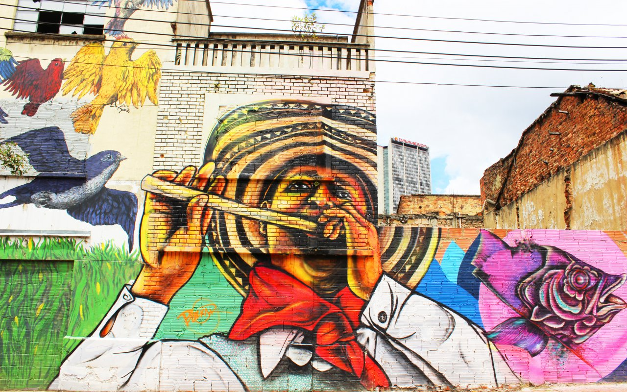 Les graffitis de la ville de Bogota