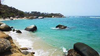 Les plagesdu Parc Tayrona près de Santa Marta en Colombie