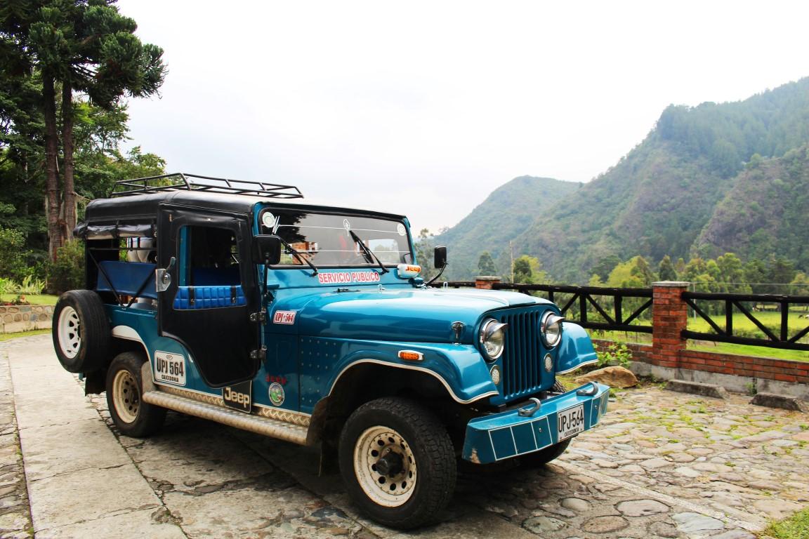 Jeep Willys près de Salento dans la région du café
