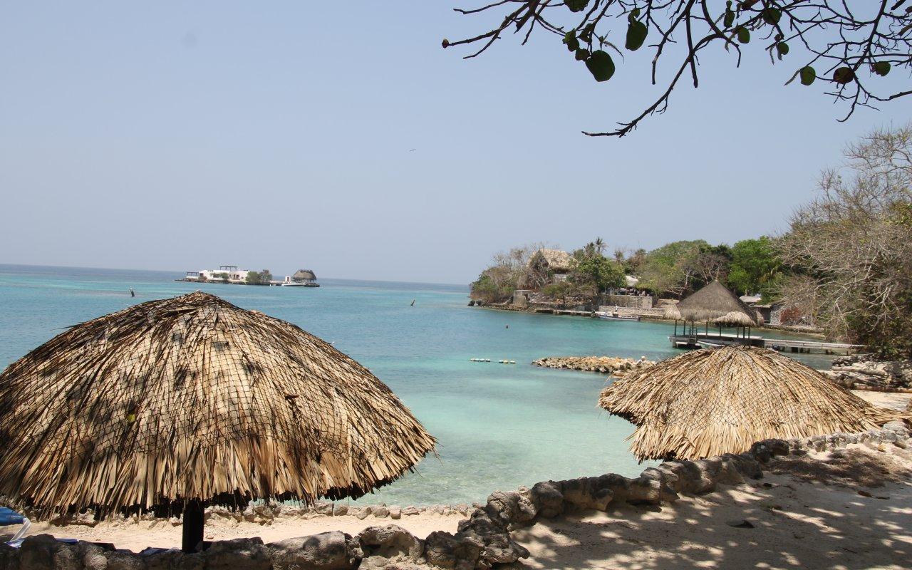 L'Isla grande dans l'archipel du Rosaire dans les Caraïbes colombiennes