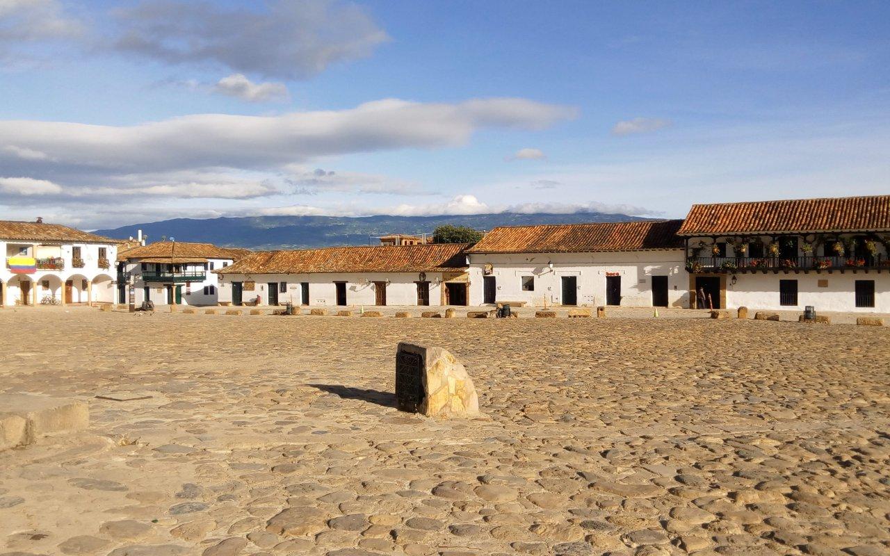 La Plaza Mayor de Villa de Leyva en Colombie