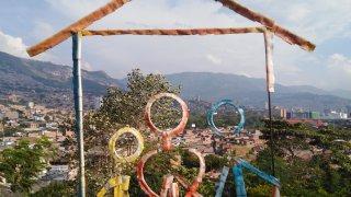 Le quartier de Moravia à Medellin