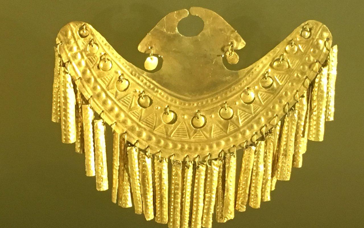 Pièce du musée de l'or à Bogota