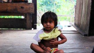 Enfant d'une communauté indigène d'Amazonie