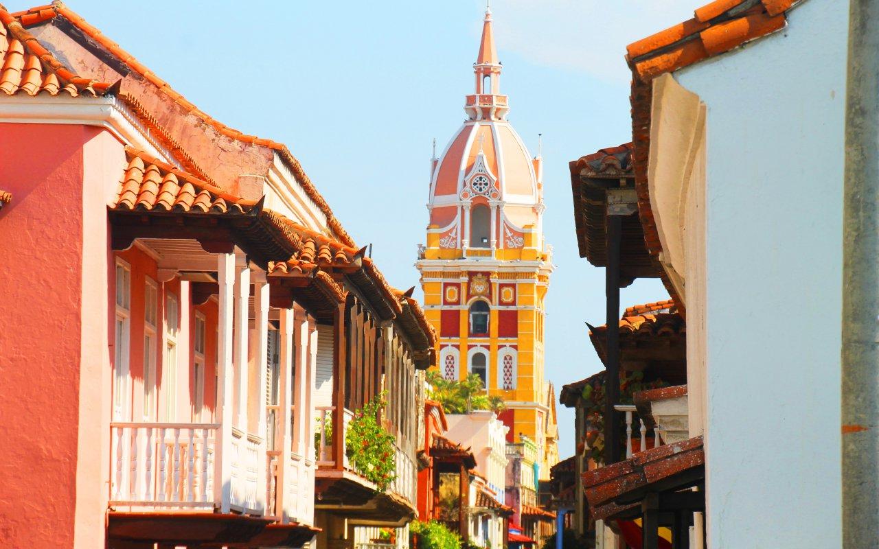 Les rue colorées de Carthagène en Colombie