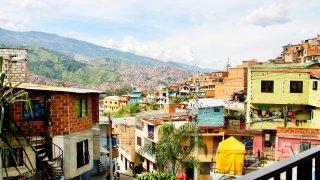 La comuna 13 à Medellin en Colombie