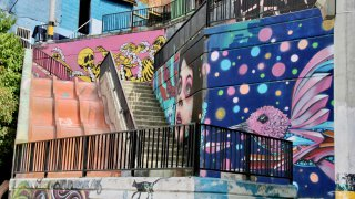 Le street-art de la Comuna 13 à Medellin en Colombie
