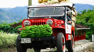 Une jeep willys en Colombie