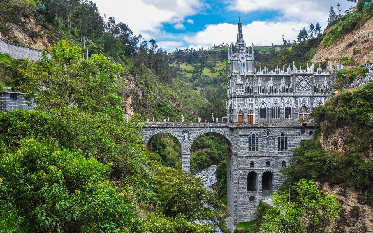 Las Lajas dans le sud de la Colombie