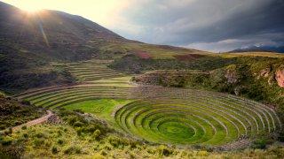 Le site Inca de Chinchero près de Cuzco au Pérou